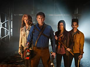 Lucy Lawless, Bruce Campbell, Ray Santiago, and Dana DeLorenzo in Ash vs Evil Dead (2015)