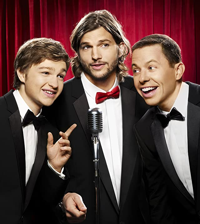 Jon Cryer, Ashton Kutcher, and Angus T. Jones in Two and a Half Men (2003)