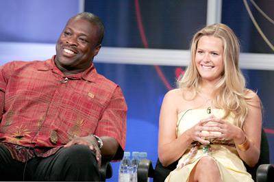 Reginald Ballard and Maggie Lawson at an event for Crumbs (2006)