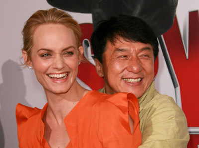 Jackie Chan and Amber Valletta at The Spy Next Door (2010)