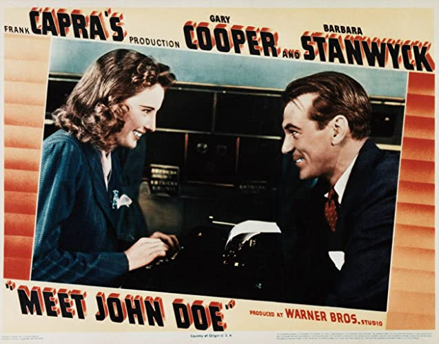 meet john doe essay Meet john doe, then, was an attempt to work out his own fears and questions the american film institute salute to frank capra, hosted by james stewart.