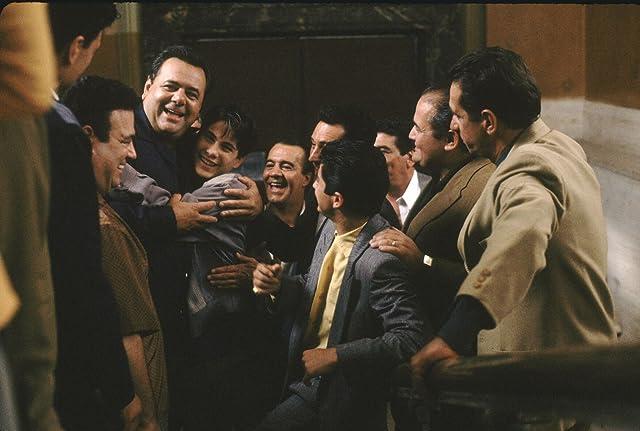 Paul Sorvino, Joseph D'Onofrio, Frank DiLeo, Ronald Maccone, Christopher Serrone, Tony Sirico, and Philip Suriano in Goodfellas (1990)