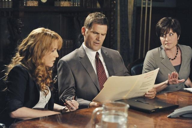Lea Thompson, Meeghan Holaway, and D.W. Moffett in Switched at Birth (2011)