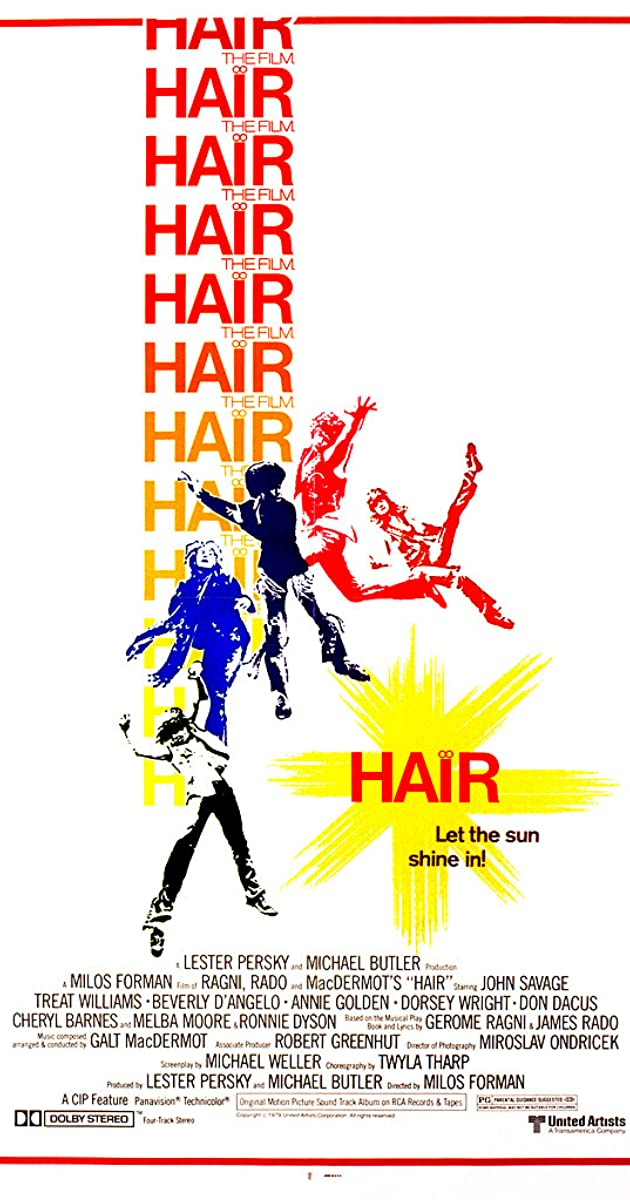 Hair (1979) Milos Forman, John Savage, Treat Williams, Beverly D ...