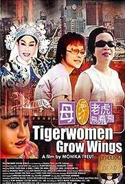 Den Tigerfrauen wachsen Flügel Poster