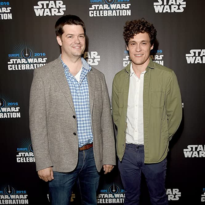 Phil Lord and Christopher Miller at an event for Rogue One (2016)