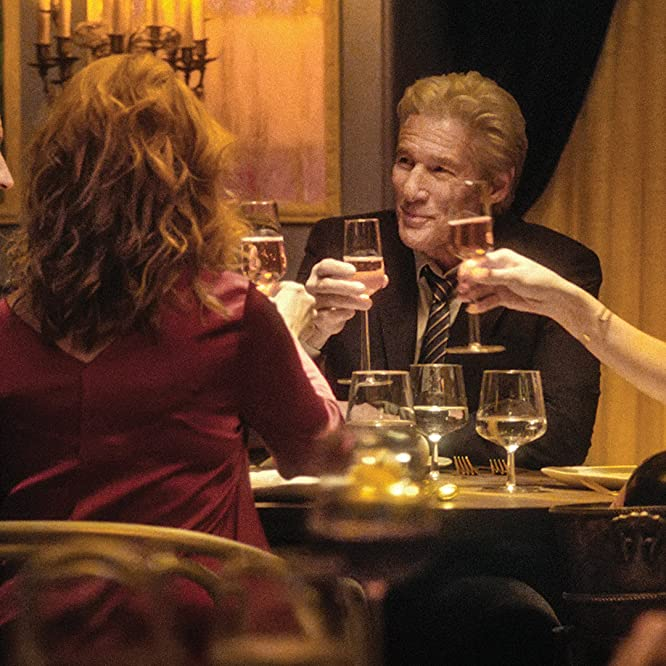 Richard Gere, Laura Linney, Steve Coogan, and Rebecca Hall in The Dinner (2017)