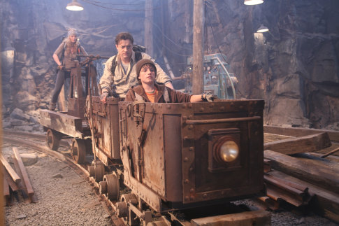 Brendan Fraser, Josh Hutcherson, and Anita Briem in Journey to the Center of the Earth (2008)
