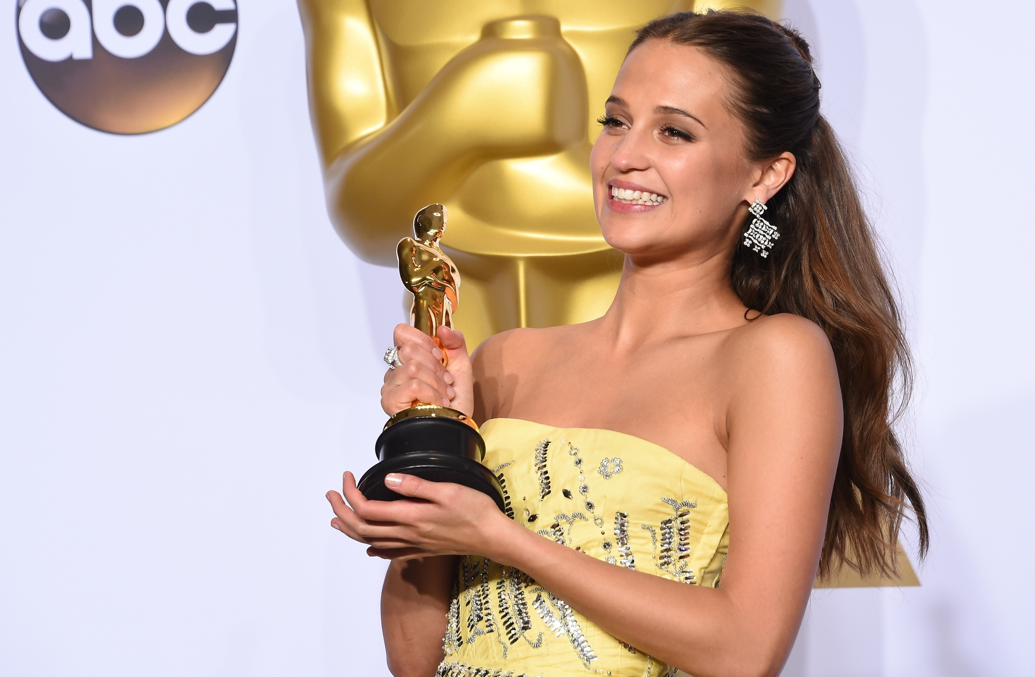 top 10 stars of 2016 alicia vikander at an event for the 88th annual academy awards 2016