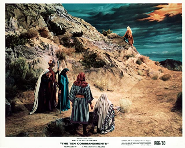 John Derek and Debra Paget in The Ten Commandments (1956)