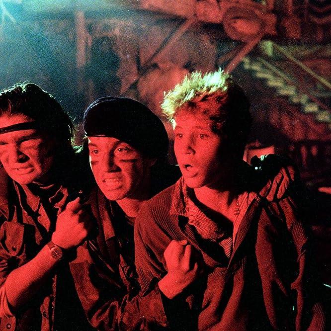 Corey Feldman, Corey Haim, and Jamison Newlander in The Lost Boys (1987)