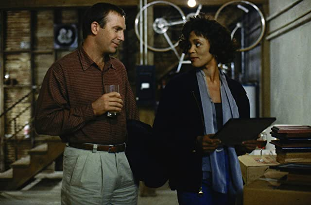 Kevin Costner and Whitney Houston in The Bodyguard (1992)