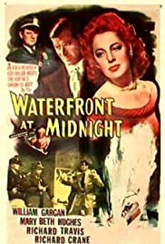 Waterfront at Midnight Poster