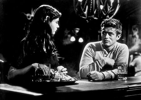 James Dean and Lois Smith in