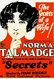 Secrets (1924) Poster - Movie Forum, Cast, Reviews