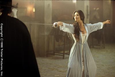 Elena shows her swordsmanship