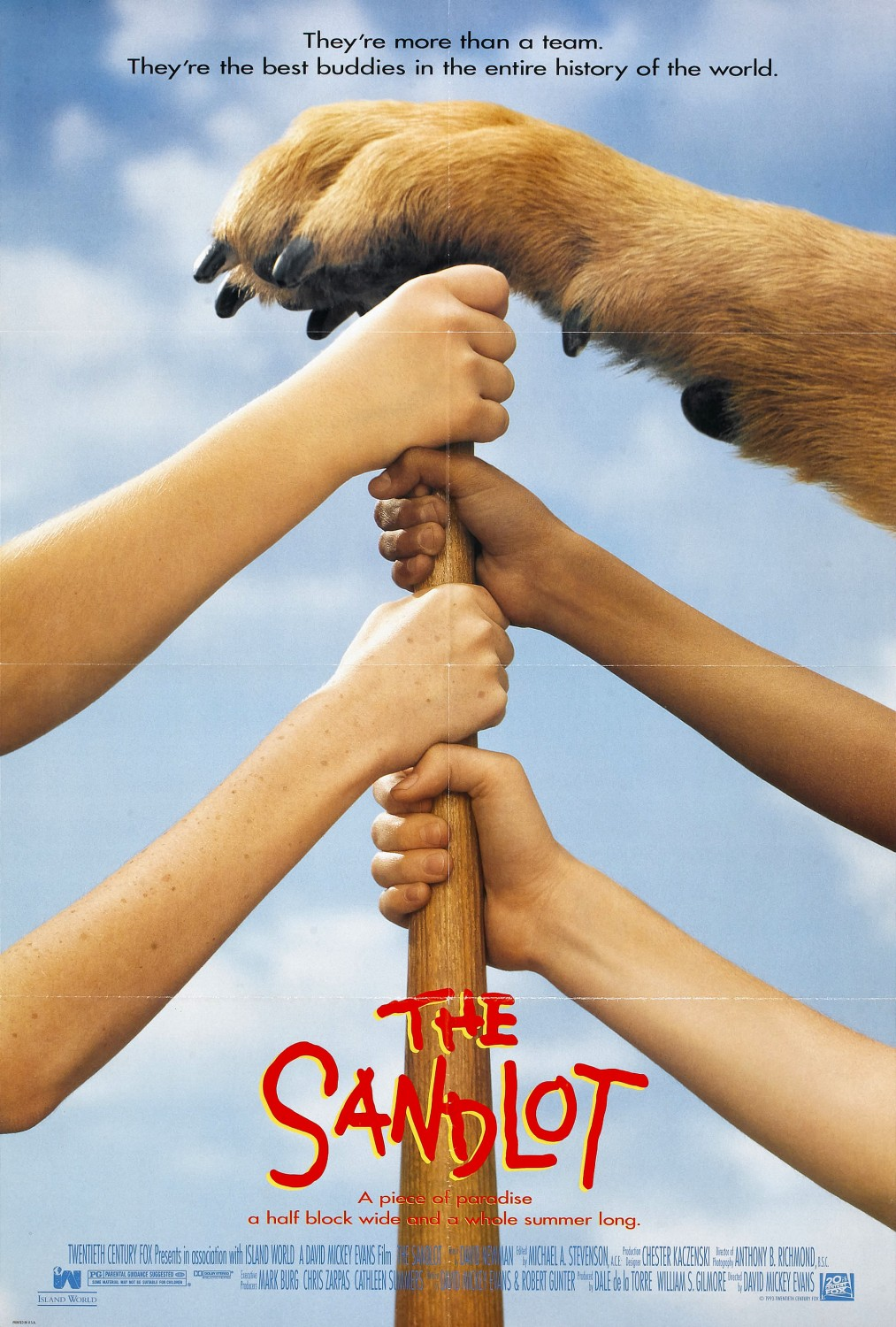 a summary of the movie the sandlot by david evans The sandlot was not exactly a home run upon its release in 1993  as their  director, david mickey evans, to talk about some things even the movie's   james earl jones appeared in a brief but memorable role as mr mertle,.