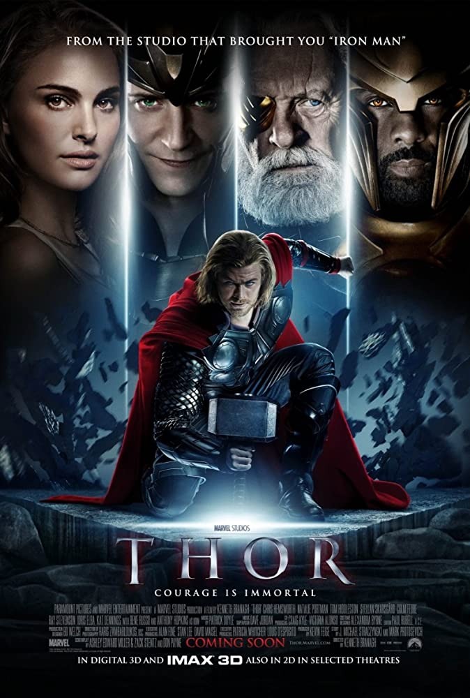 Anthony Hopkins, Natalie Portman, Idris Elba, Tom Hiddleston, and Chris Hemsworth in Thor (2011)