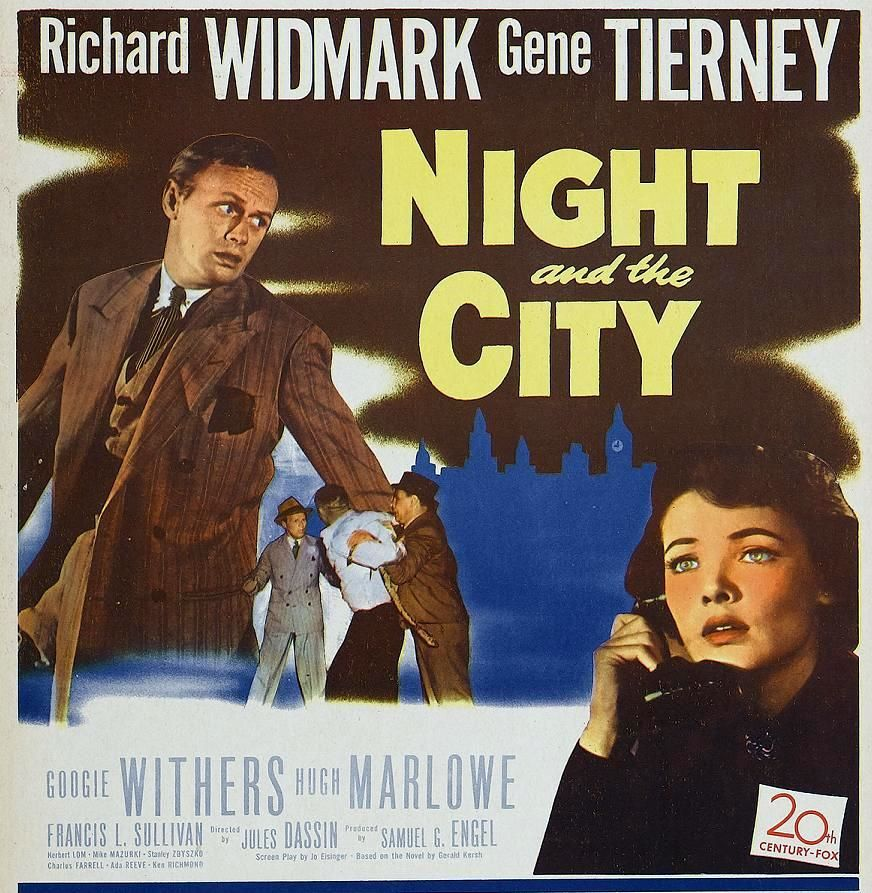 Image result for poster for Night and the City dassin