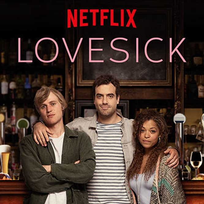 Johnny Flynn, Antonia Thomas, and Daniel Ings in Lovesick (2014)
