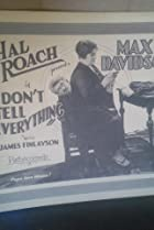 Image of Don't Tell Everything