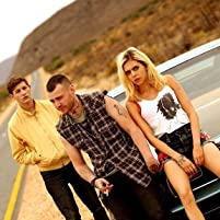 Emory Cohen, Bel Powley, and Tye Sheridan in Detour (2016)