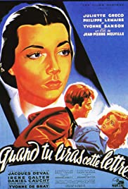 Quand tu liras cette lettre(1953) Poster - Movie Forum, Cast, Reviews