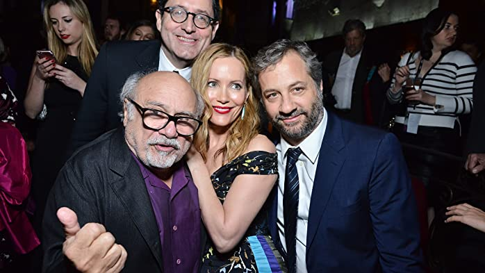 Danny DeVito, Leslie Mann, Judd Apatow, and Tom Rothman at an event for The Comedian (2016)