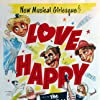 Groucho Marx, Chico Marx, Harpo Marx, Ilona Massey, and Vera-Ellen in Love Happy (1949)