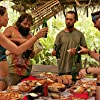 Colby Donaldson, Rupert Boneham, Amanda Kimmel, and Candice Woodcock in Survivor (2000)