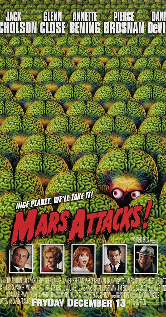 Marsas atakuoja / Mars Attacks! (1996) Online