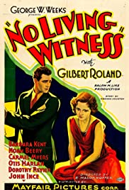 No Living Witness Poster