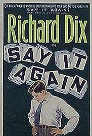Say It Again Poster