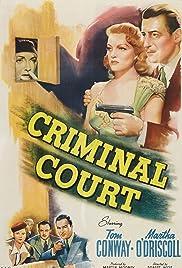 Criminal Court(1946) Poster - Movie Forum, Cast, Reviews