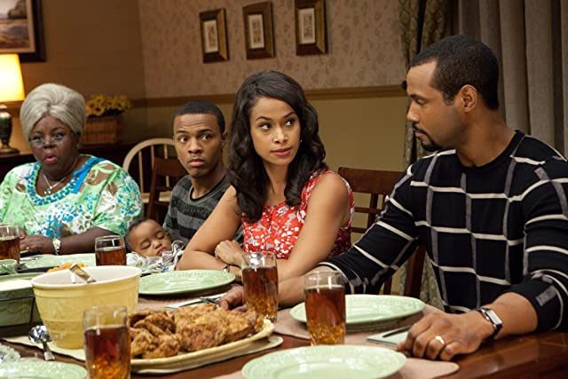 Cassi Davis, Shad Moss, Shannon Kane, and Isaiah Mustafa in Madea's Big Happy Family (2011)