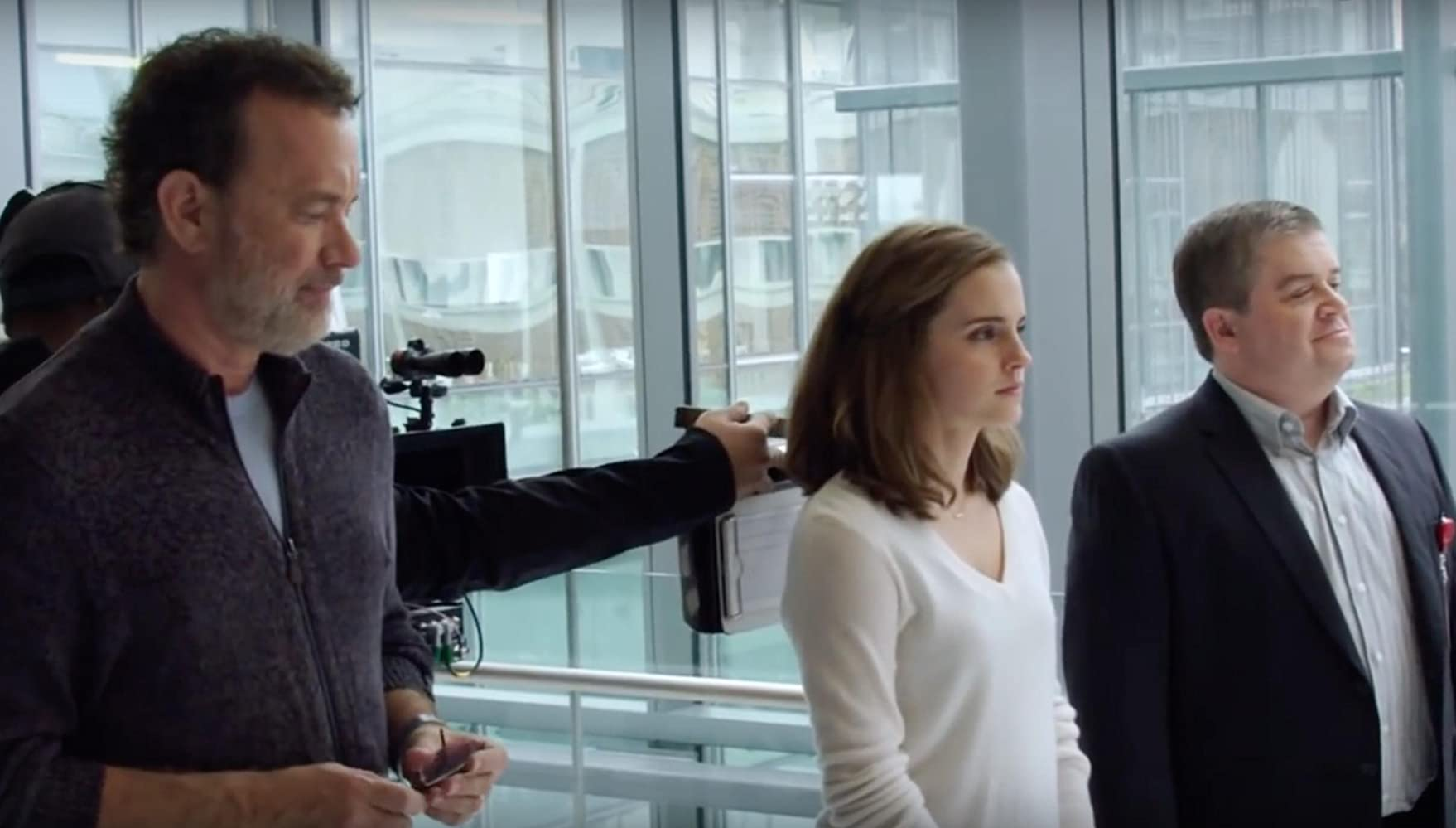 Tom Hanks, Patton Oswalt, and Emma Watson in The Circle (2017)