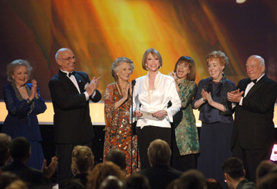 Edward Asner, Valerie Harper, Cloris Leachman, Mary Tyler Moore, Georgia Engel, Gavin MacLeod, and Betty White at an event for 13th Annual Screen Actors Guild Awards (2007)