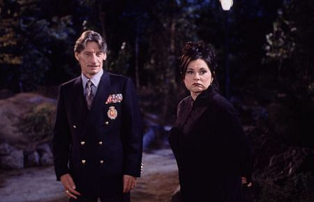 Jim Varney with Rosanne Barr in
