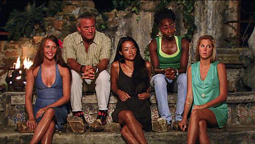 Kelly Shin, Brenda Lowe, Marty Piombo, and Alina Wilson in Survivor (2000)