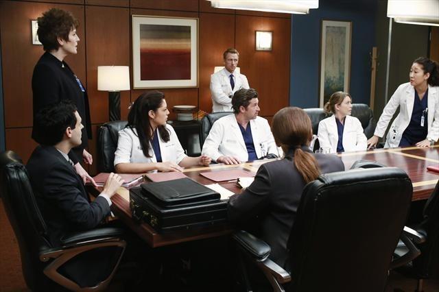 Patrick Dempsey, Meeghan Holaway, Kevin McKidd, Sandra Oh, Ellen Pompeo, and Sara Ramirez in Grey's Anatomy (2005)