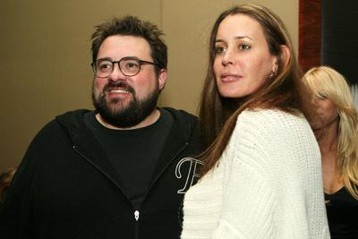 Kevin Smith and Jennifer Schwalbach Smith at Zack and Miri Make a Porno (2008)