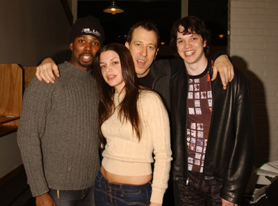 John Fleck, Harold Perrineau, Vanessa Ferlito, and Eric Millegan at an event for On_Line (2002)