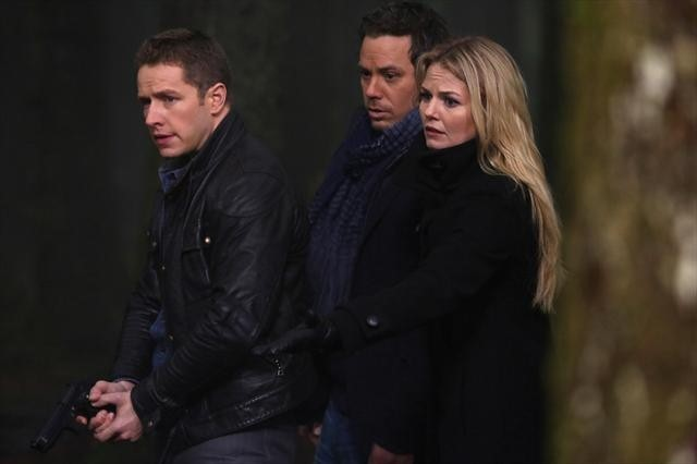 Jennifer Morrison, Michael Raymond-James, and Josh Dallas in Once Upon a Time (2011)