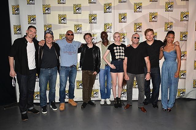 Benicio Del Toro, Djimon Hounsou, James Gunn, Chris Pratt, Michael Rooker, Zoe Saldana, Dave Bautista, Lee Pace, and Karen Gillan