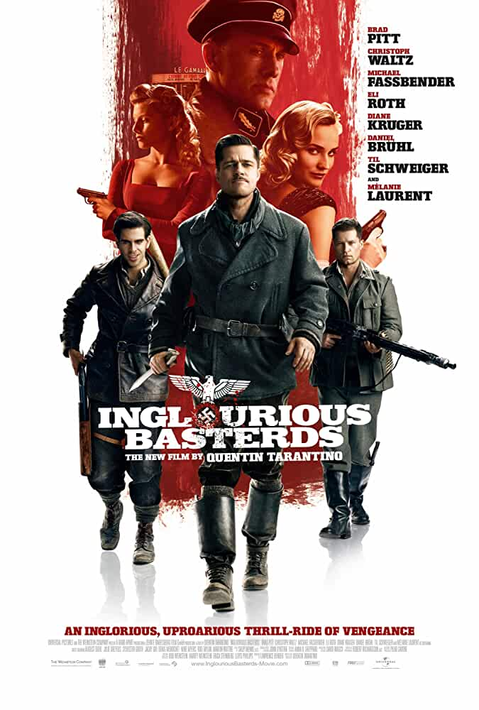 Inglourious Basterds 2009 Hindi Dubbed Dual Audio 480p BRRip 450MB