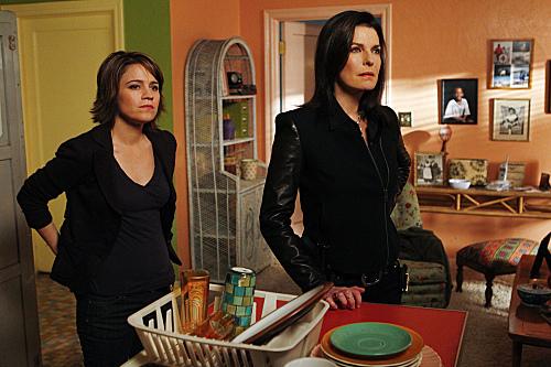 Sela Ward and Anna Belknap in CSI: NY (2004)