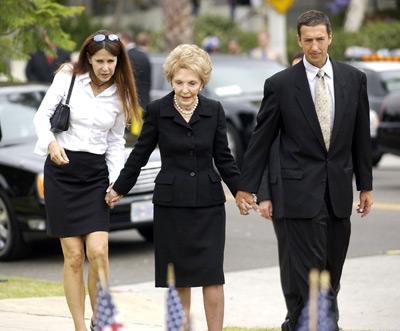 Nancy Reagan, Patti Davis, and Ron Reagan