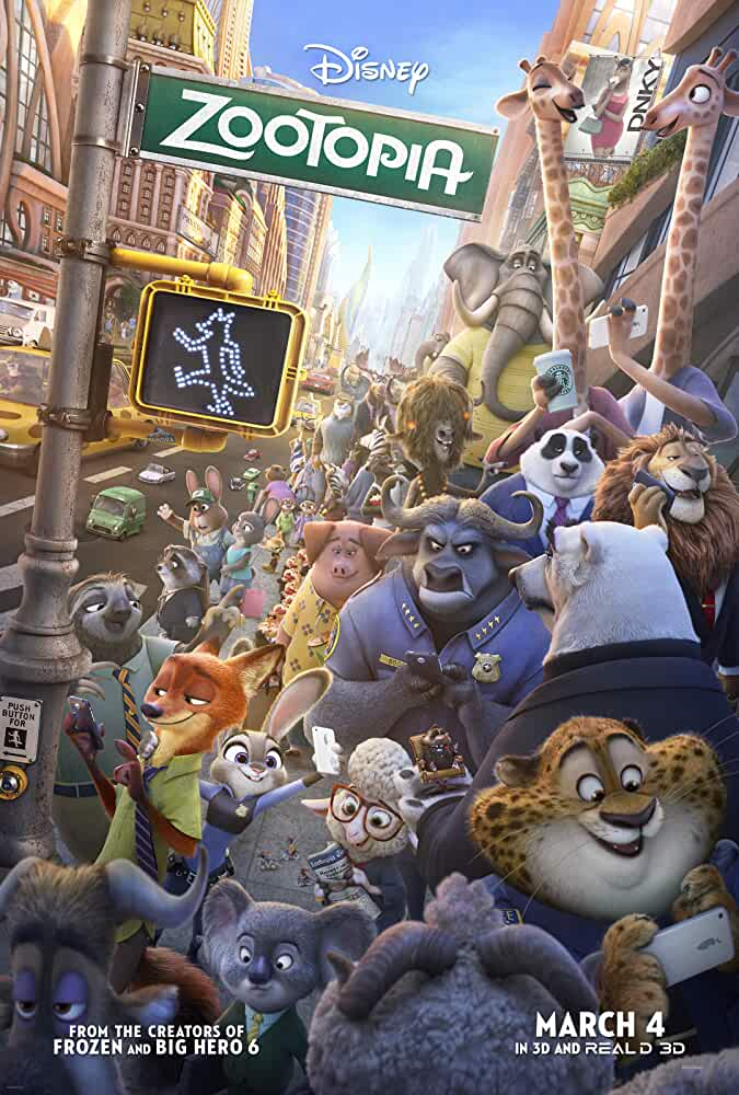 Poster Zootopia 2016 Dual Audio in Hindi Dubbed HD 720p Free Download