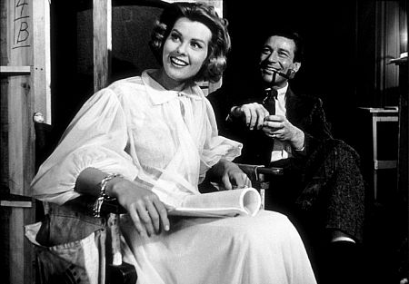 Efrem Zimbalist, Jr. and Janet Lake on the set of