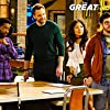 Joel McHale, Christopher Mintz-Plasse, Shaun Brown, and Christine Ko in The Great Indoors (2016)